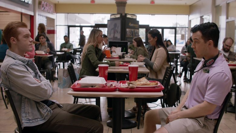 Panda Express Restaurant Food and Drinks Enjoyed by Cameron Monaghan as Ian Gallagher