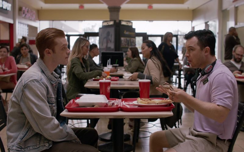 Panda Express Restaurant Food and Drinks Enjoyed by Cameron Monaghan as Ian Gallagher & (1)