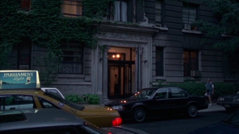 Parliament Light Cigarettes Taxi Advertising in Seinfeld Season 6 Episode 18 The Doorman