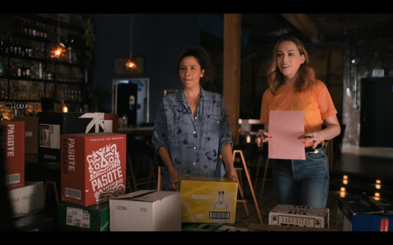 Pasote Tequila, Absolut Vodka, Lagunitas in The L Word Generation Q Season 1 Episode 4 LA Times
