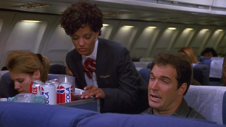 Pepsi Cola Soda Cans in Seinfeld Season 9 Episode 1 The Butter Shave