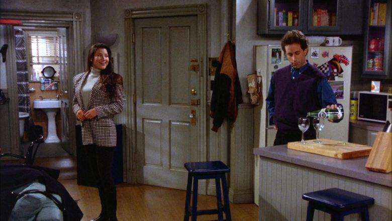 Perrier Water Bottle Held by Jerry Seinfeld in Seinfeld Season 5 Episode 10 (1)