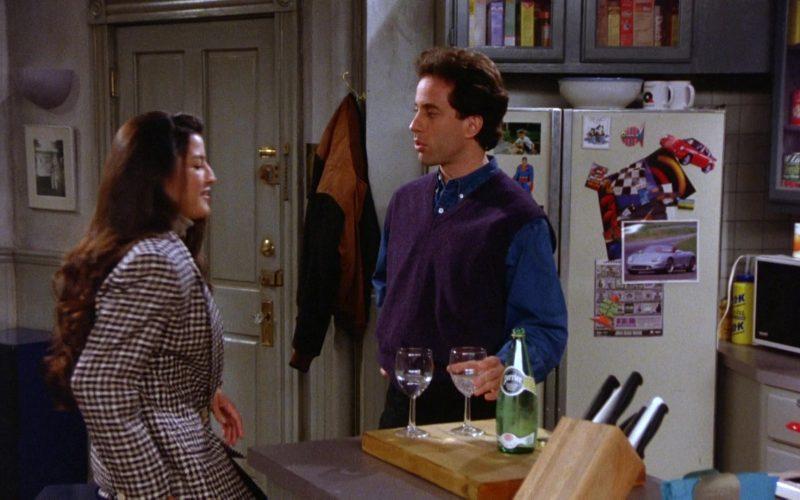 Perrier Water Bottle Held by Jerry Seinfeld in Seinfeld Season 5 Episode 10 (2)