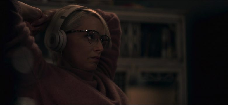 Persol Eyeglasses and Beats Headphones Used by Katherine LaNasa as Noa Havilland in Truth Be Told Season 1 Episode 1