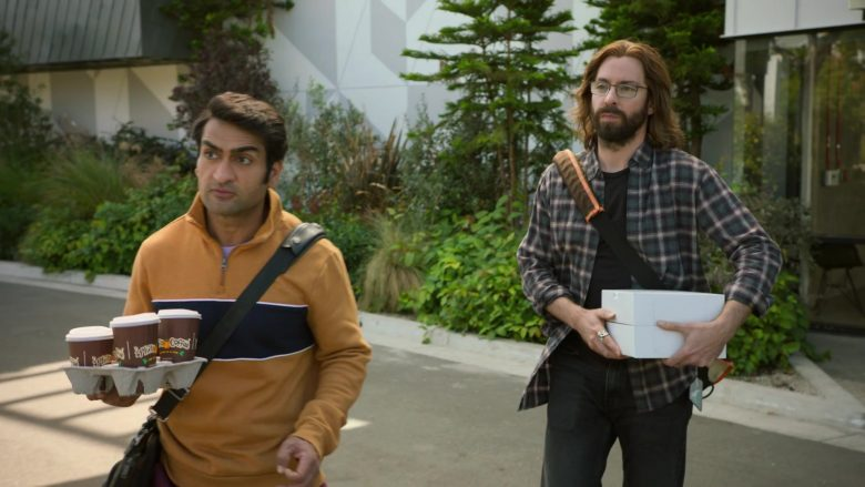 Philz Coffee Cups Held by Kumail Nanjiani as Dinesh in Silicon Valley Season 6 Episode 6 (2)
