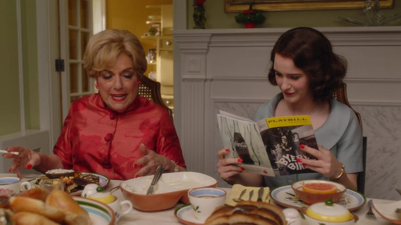 "Playbill Magazine Held by Rachel Brosnahan as Miriam 'Midge' Maisel in The Marvelous Mrs. Maisel Season 3 Episode 7 ""Marvelous Radio"" (2019) - TV Show Product Placement"