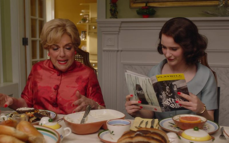 Playbill Magazine Held by Rachel Brosnahan as Miriam 'Midge' Maisel in The Marvelous Mrs. Maisel Season 3 Episode 7