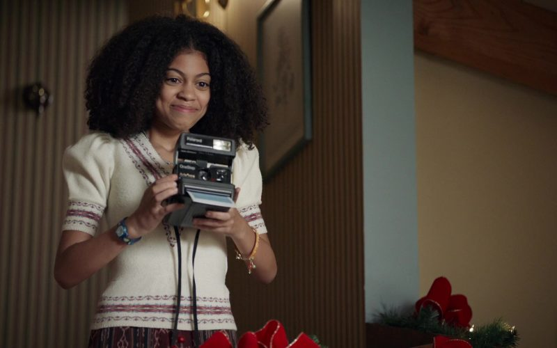 Polaroid Camera Held by Arica Himmel as Rainbow 'Bow' Johnson in Mixed-ish Season 1 Episode 10 (5)