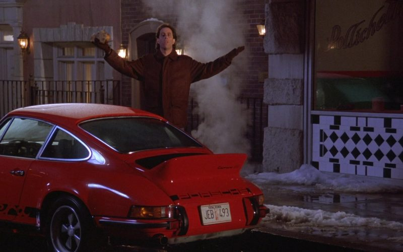 Porsche 911 Carrera RS 2.7 Red Sports Car in Seinfeld Season 7 Episode 11 The Rye