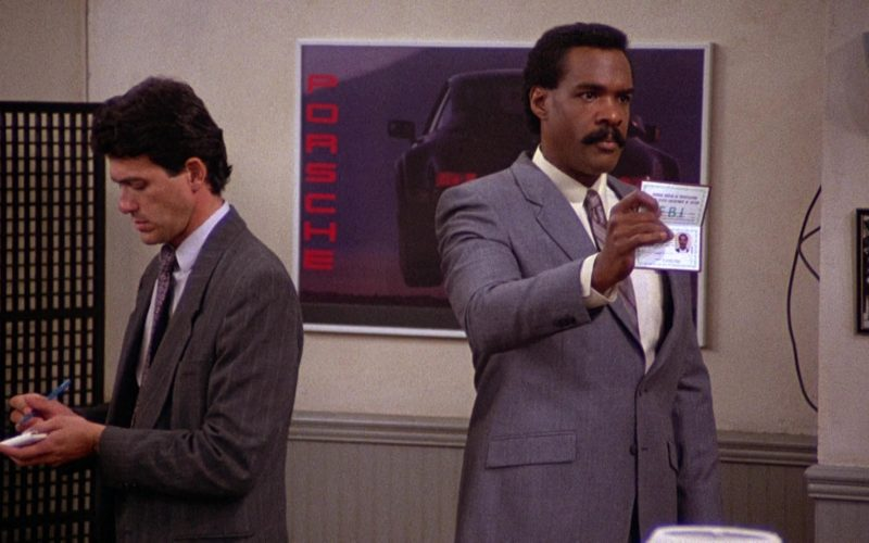 Porsche Car Poster in Seinfeld Season 2 Episode 10 The Baby Shower (2)