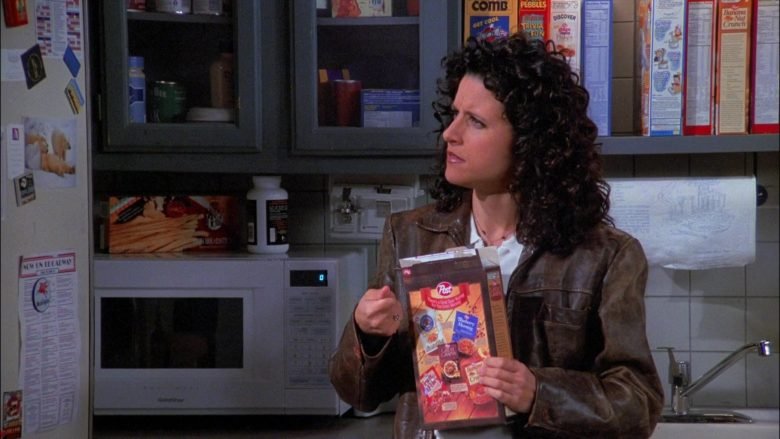 Post Foods Enjoyed by Julia Louis-Dreyfus as Elaine Benes in Seinfeld Season 8 Episode 7 The Checks