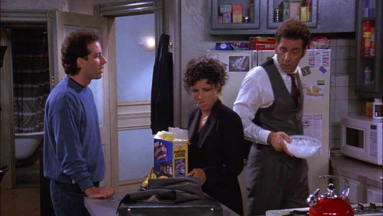 Post Honeycomb Cereal Enjoyed by Julia Louis-Dreyfus as Elaine Benes in Seinfeld Season 8 Episode 3 The Bizarro Jerry