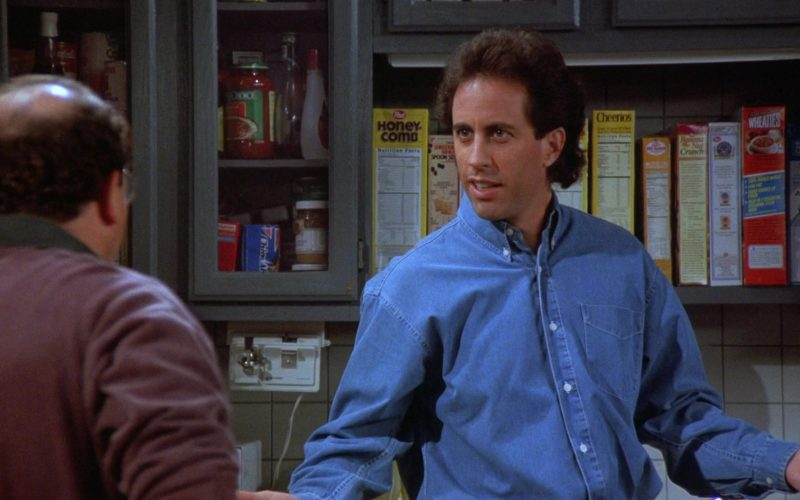 Post Honeycomb and Cheerios Cereals in Seinfeld Season 7 Episode 1 The Engagement