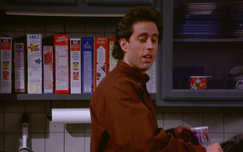 Quaker, Cap'N Crunch and Kellogg's Cereals in Seinfeld Season 6 Episode 11 The Switch