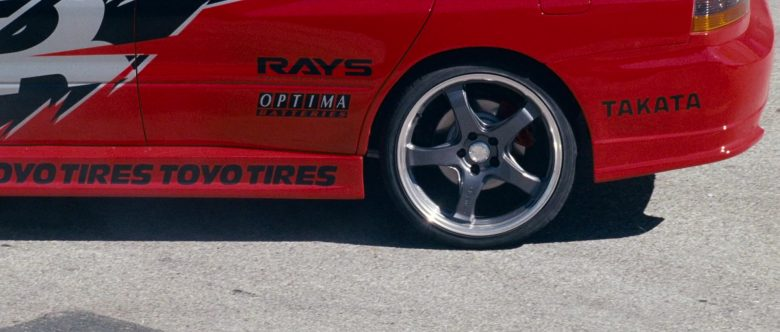 RAYS Wheels, Optima Batteries, Takata, Toyo Tires in The Fast and the Furious Tokyo Drift