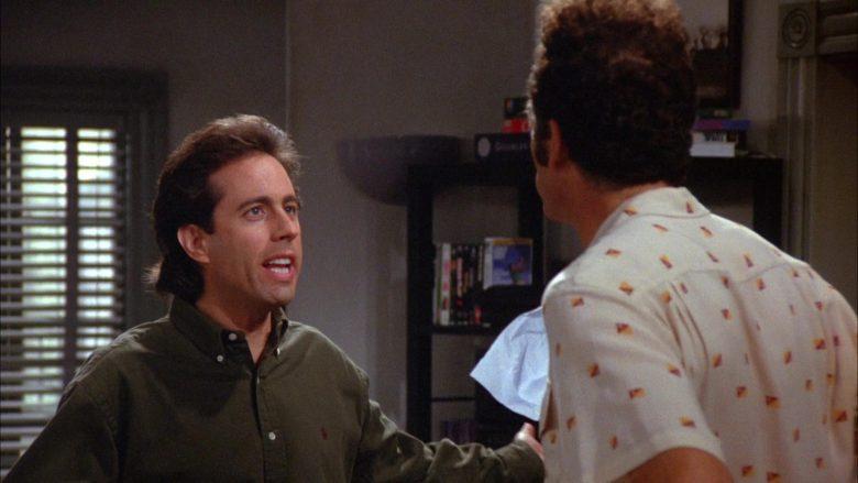 Ralph Lauren Green Long Sleeve Shirt Worn by Jerry Seinfeld in Seinfeld Season 6 Episode 8 The Mom & Pop Store (1)
