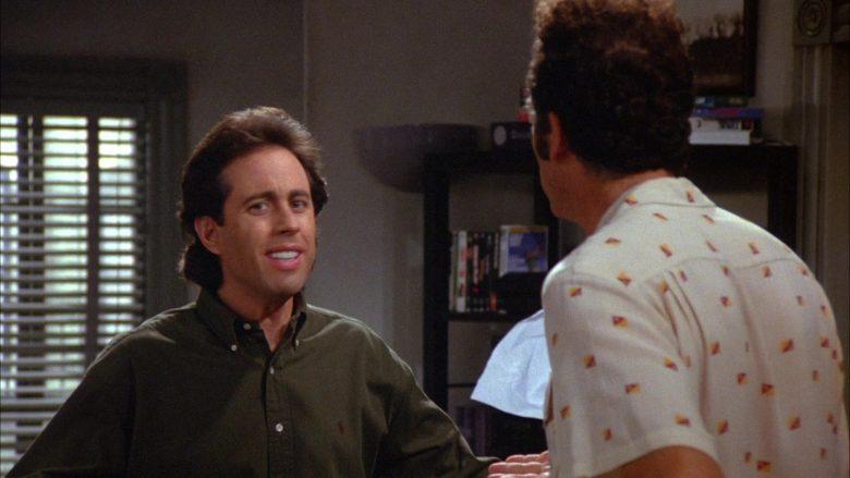 Ralph Lauren Green Long Sleeve Shirt Worn by Jerry Seinfeld in Seinfeld Season 6 Episode 8 The Mom & Pop Store (2)