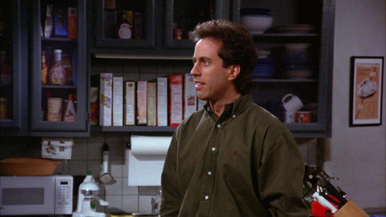Ralph Lauren Green Long Sleeve Shirt Worn by Jerry Seinfeld in Seinfeld Season 6 Episode 8 The Mom & Pop Store (5)