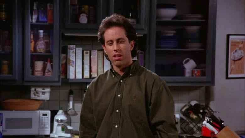 Ralph Lauren Green Long Sleeve Shirt Worn by Jerry Seinfeld in Seinfeld Season 6 Episode 8 The Mom & Pop Store (6)
