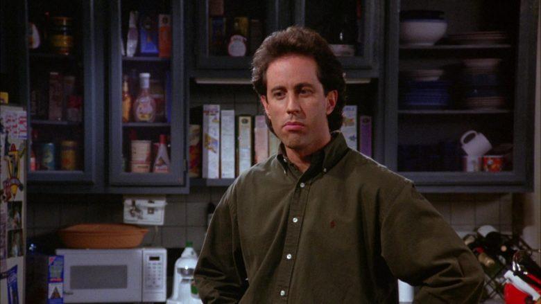 Ralph Lauren Green Long Sleeve Shirt Worn by Jerry Seinfeld in Seinfeld Season 6 Episode 8 The Mom & Pop Store (7)