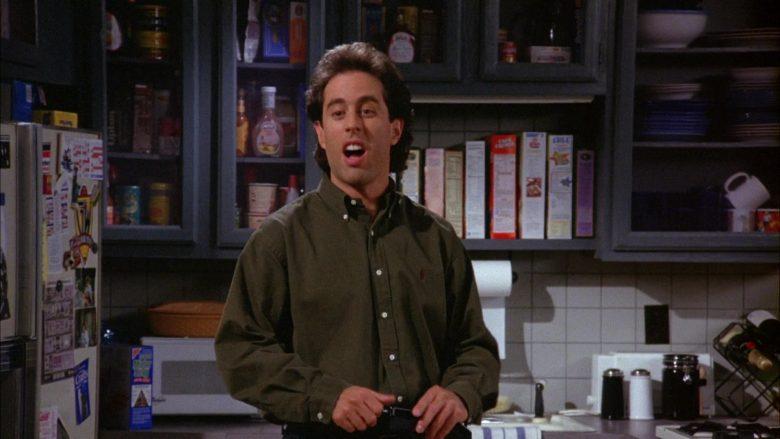 Ralph Lauren Green Long Sleeve Shirt Worn by Jerry Seinfeld in Seinfeld Season 6 Episode 8 The Mom & Pop Store (8)