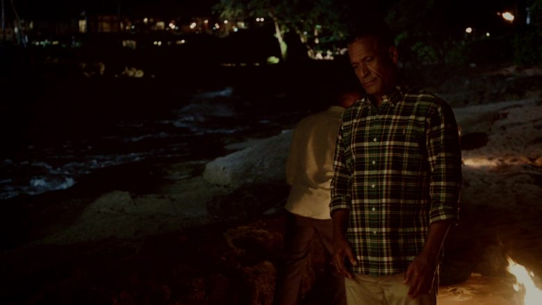 Ralph Lauren Green Plaid Long Sleeve Shirt Worn by Phil Morris in Same Time, Next Christmas (2019) - Movie Product Placement