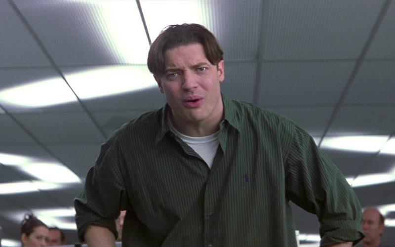 Ralph Lauren Green Shirt For Men Worn by Brendan Fraser in Bedazzled