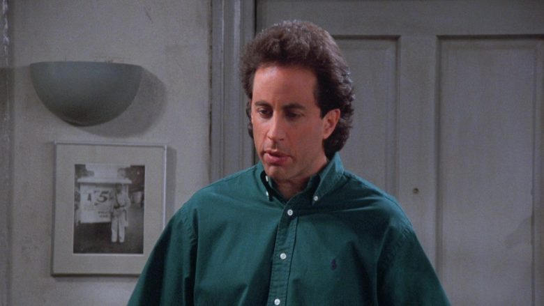 Ralph Lauren Green Shirt Worn by Jerry in Seinfeld Season 7 Episode 17 The Doll (1)