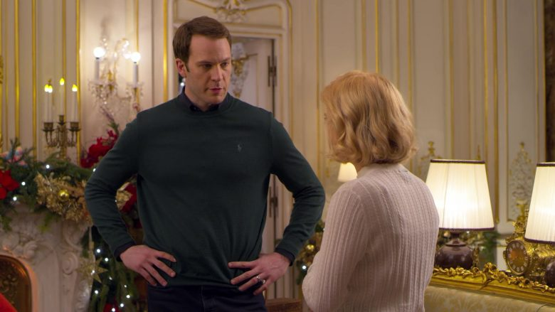 Ralph Lauren Green Sweater Worn by Ben Lamb in A Christmas Prince The Royal Baby (2)
