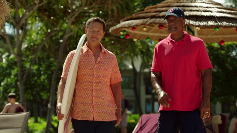 Ralph Lauren Pink Polo Shirt Worn by Phil Morris in Same Time, Next Christmas
