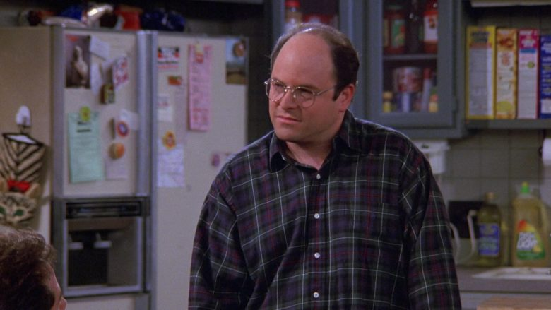 Ralph Lauren Plaid Shirt Worn by Jason Alexander as George Costanza in Seinfeld Season 9 Episode 5 The Junk Mail (1)