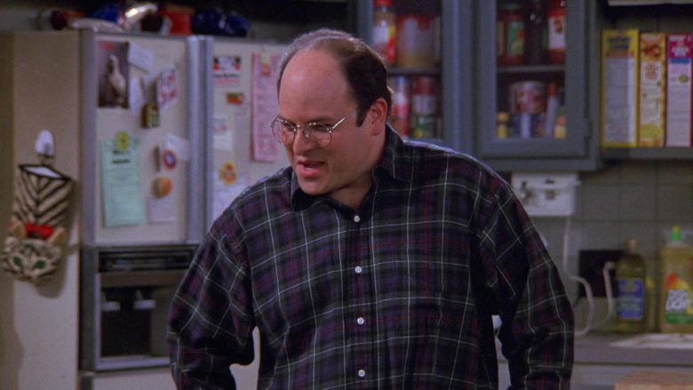 Ralph Lauren Plaid Shirt Worn by Jason Alexander as George Costanza in Seinfeld Season 9 Episode 5 The Junk Mail (2)