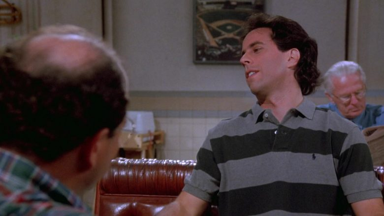 Ralph Lauren Striped Polo Shirt Worn by Jerry Seinfeld in Seinfeld Season 9 Episode 21 The Chronicle (1)