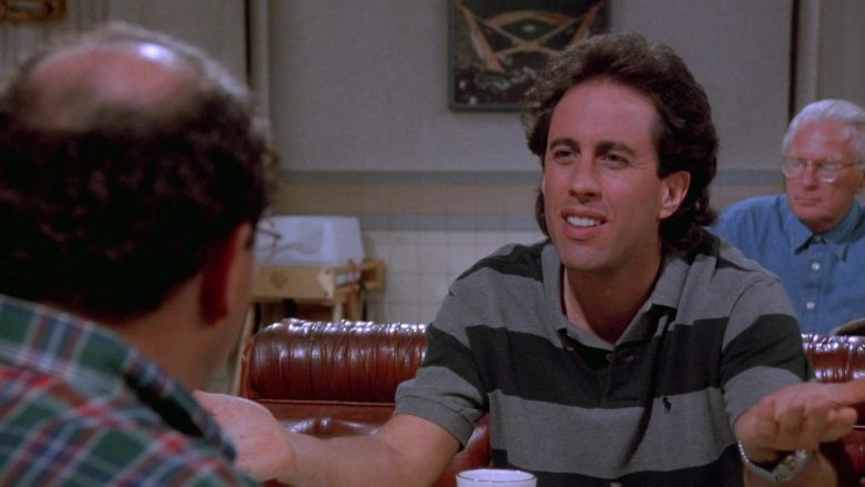 Ralph Lauren Striped Polo Shirt Worn by Jerry Seinfeld in Seinfeld Season 9 Episode 21 The Chronicle (2)