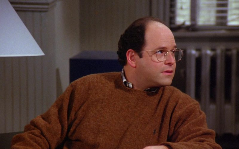 Ralph Lauren Sweater Worn by Jason Alexander as George Costanza in Seinfeld Season 6 Episode 10 The Race