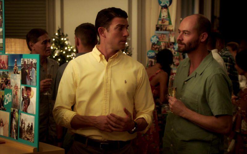 Ralph Lauren Yellow Shirt For Men Worn by Bryan Greenberg in Same Time, Next Christmas