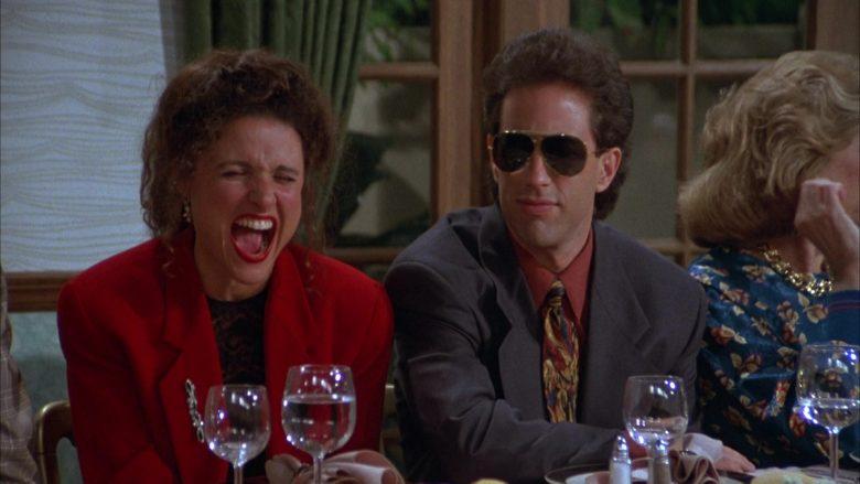 Ray-Ban Aviator Sunglasses Worn by Jerry Seinfeld in Seinfeld Season 3 Episode 3 The Pen (9)