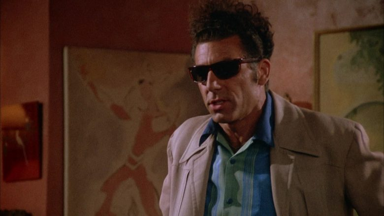 Ray-Ban Sunglasses Worn by Michael Richards as Cosmo Kramer in Seinfeld Season 4 Episode 1 (10)