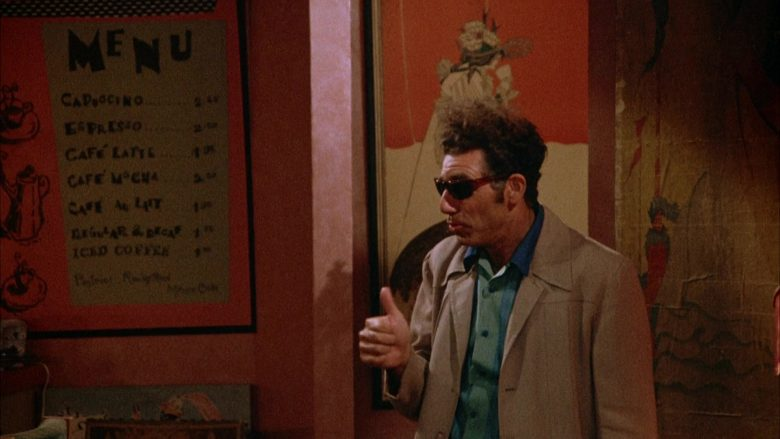 Ray-Ban Sunglasses Worn by Michael Richards as Cosmo Kramer in Seinfeld Season 4 Episode 1 (11)