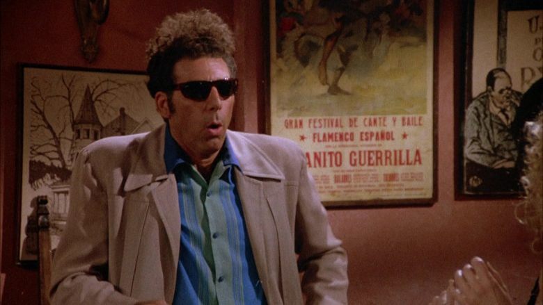 Ray-Ban Sunglasses Worn by Michael Richards as Cosmo Kramer in Seinfeld Season 4 Episode 1 (6)