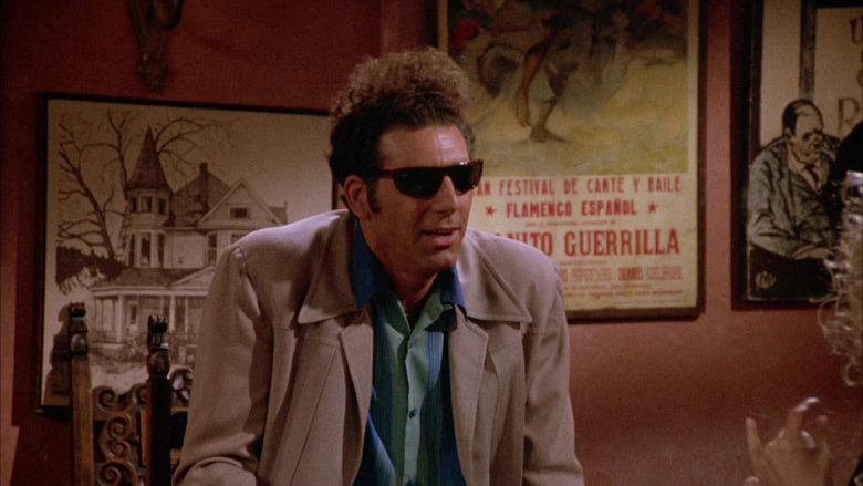 Ray-Ban Sunglasses Worn by Michael Richards as Cosmo Kramer in Seinfeld Season 4 Episode 1 (7)