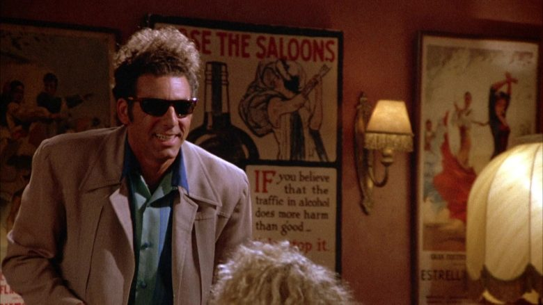 Ray-Ban Sunglasses Worn by Michael Richards as Cosmo Kramer in Seinfeld Season 4 Episode 1 (8)