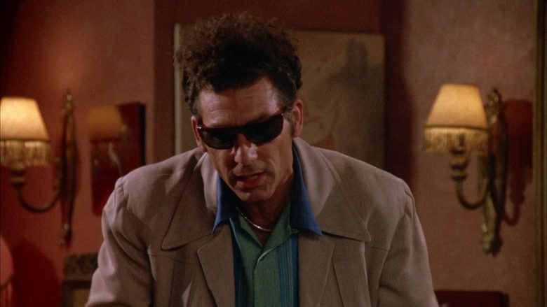 Ray-Ban Sunglasses Worn by Michael Richards as Cosmo Kramer in Seinfeld Season 4 Episode 1 (9)