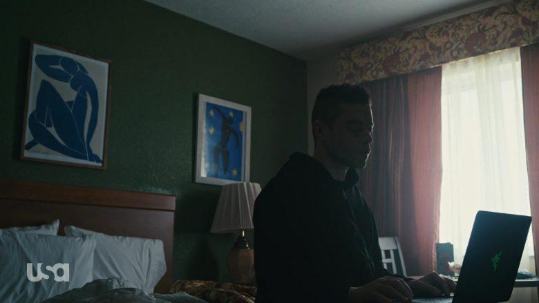 Razer Laptop Used by Rami Malek as Vigilante Hacker Elliot Alderson in Mr. Robot Season 4 Episode 10 (2)