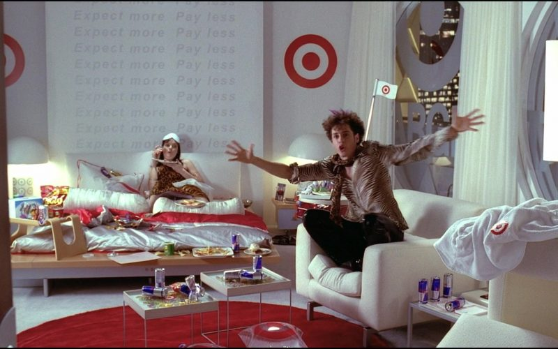 Red Bull Energy Drink Cans and Target Logos in Josie and the Pussycats