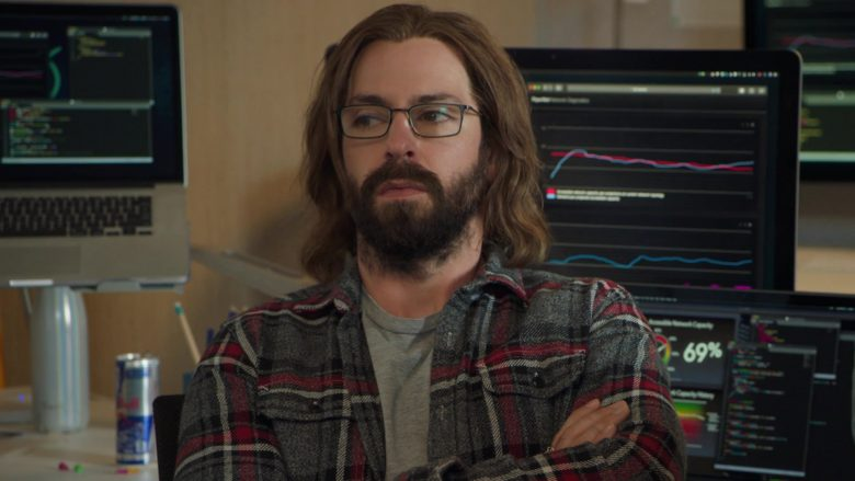 Red Bull Energy Drink Enjoyed by Martin Starr as Bertram Gilfoyle in Silicon Valley Season 6 Episode 6
