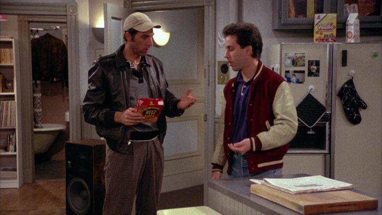 Ritz Bits Held by Michael Richards as Cosmo Kramer in Seinfeld Season 2 Episode 3 (2)