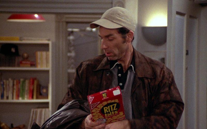 Ritz Bits Held by Michael Richards as Cosmo Kramer in Seinfeld Season 2 Episode 3 (5)