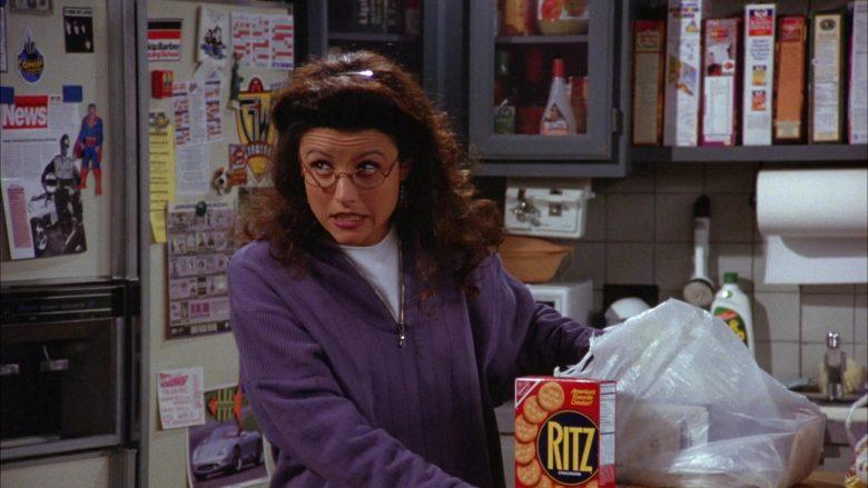 Ritz Crackers Held by Julia Louis-Dreyfus as Elaine Benes in Seinfeld Season 6 Episode 4 The Chinese Woman (3)
