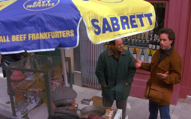 Sabrett Hot Dogs in Seinfeld Season 6 Episode 12 The Label Maker